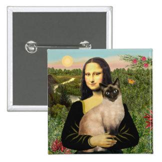 Mona Lisa - Seal Point Siamese cat Pinback Button