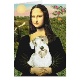 Mona Lisa - Sealyham Terrier (l) Tarjeta De Felicitación