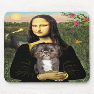 Mona Lisa - Shih Tzu (M) Mouse Pad