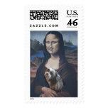 Mona Lisa shih tzu postage stamp