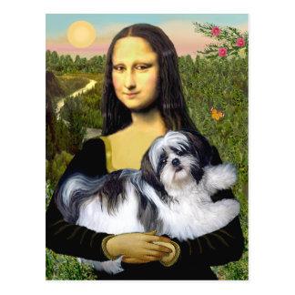 Mona Lisa - Shih Tzu (Uno-ld) Tarjetas Postales