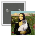 Mona Lisa - Siamese 24 (blue point) Pinback Buttons