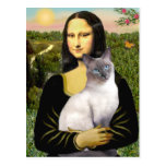 Mona Lisa - Siamese 24 (blue point) Post Card