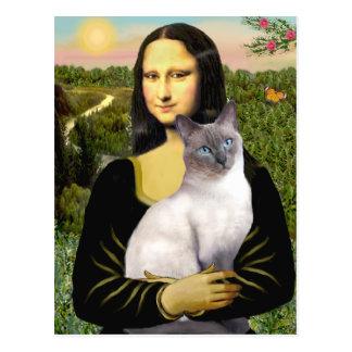 Mona Lisa - Siamese 24 (blue point) Postcard