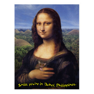Mona Lisa Smile Bohol Postcard