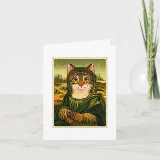 Mona Lisa Smile CAT Notecard
