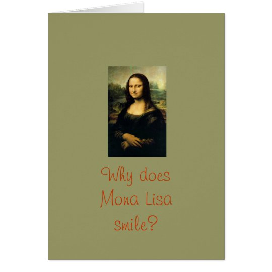 Mona Lisa Smiles Card