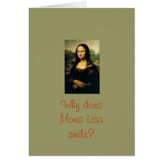 Mona Lisa Smiles Greeting Card