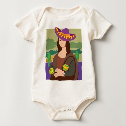 Mona Lisa Sombrero Baby Bodysuit