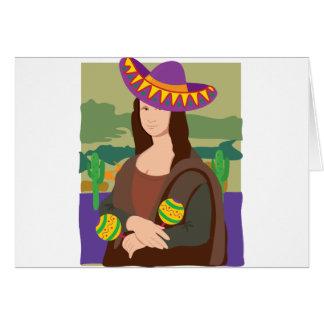 Mona Lisa Sombrero Greeting Card