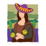 Mona Lisa Sombrero Post Card