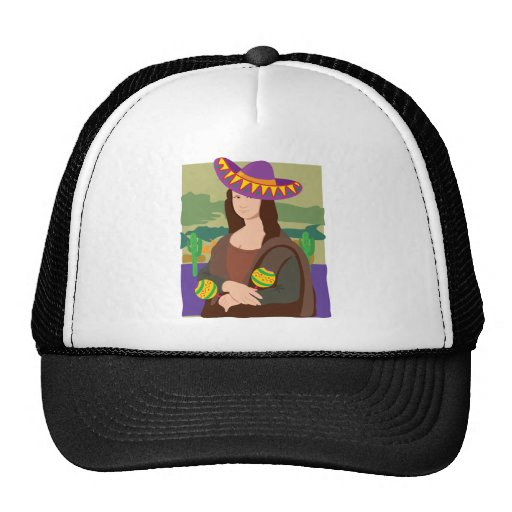 Mona Lisa Sombrero Trucker Hats