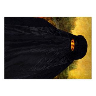 Mona Lisa sonríe detrás de su Burqa Tarjetas De Visita Grandes