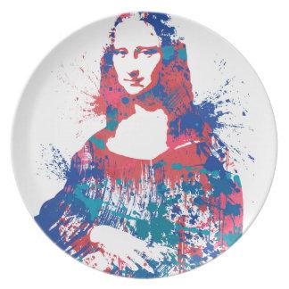 Mona Lisa splatter plate