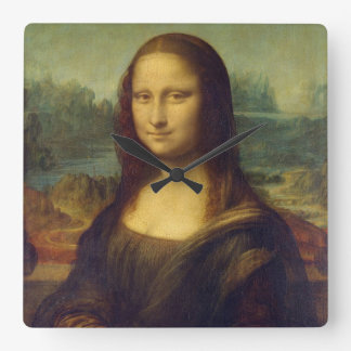 Mona Lisa Square Wall Clock