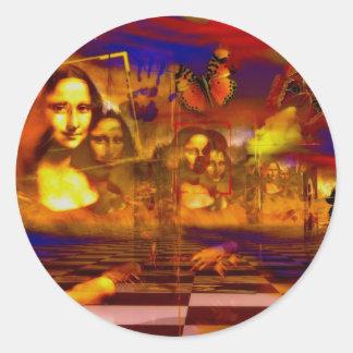 Mona Lisa Round Stickers