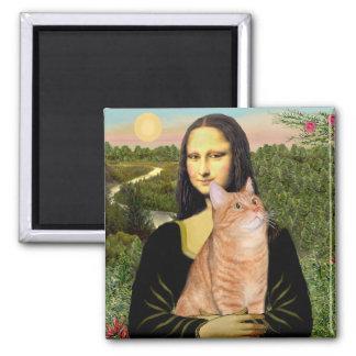 Mona Lisa - Tabby anaranjado 46 SH Imán Cuadrado
