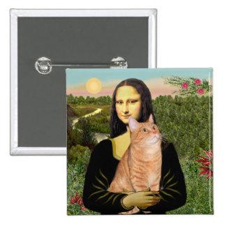 Mona Lisa - Tabby anaranjado 46 SH Pin Cuadrada 5 Cm