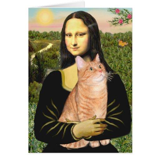 Mona Lisa - Tabby anaranjado 46 SH Tarjeta De Felicitación