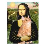 Mona Lisa - Tabby anaranjado 46 SH Tarjeta Postal