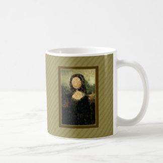 Mona Lisa Taza Básica Blanca