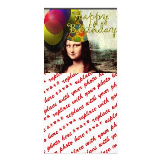 Mona Lisa -  The Birthday Girl Custom Photo Card
