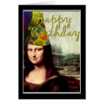 Mona Lisa -  The Birthday Girl Greeting Card