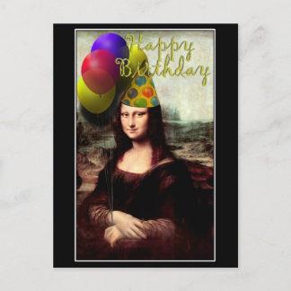 Mona Lisa -  The Birthday Girl Postcard