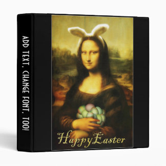 Mona Lisa, The Easter Bunny 3 Ring Binder