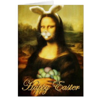 Mona Lisa, The Easter Bunny Card