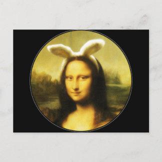 Mona Lisa, The Easter Bunny Holiday Postcard