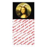 Mona Lisa, the Easter Bunny Photo Card Template