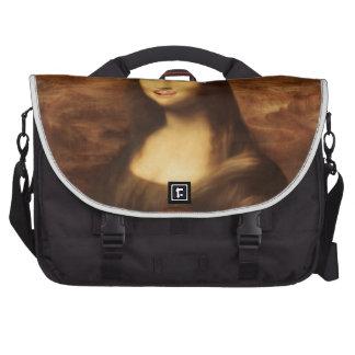 Mona Lisa tiene gusto del caramelo de la tarjeta Bolsas Para Portatil