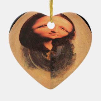 Mona Lisa Transform Ceramic Ornament
