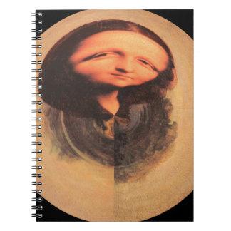 Mona Lisa transforma Libro De Apuntes Con Espiral