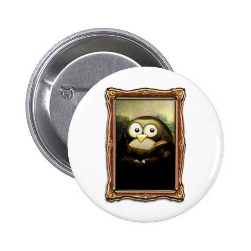 Mona Lisa Tux Button