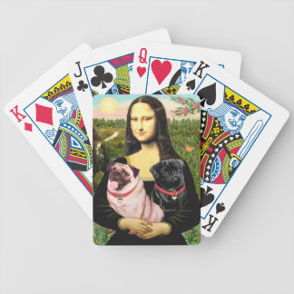 Mona Lisa - Two Pugs Bicycle Playing Cards