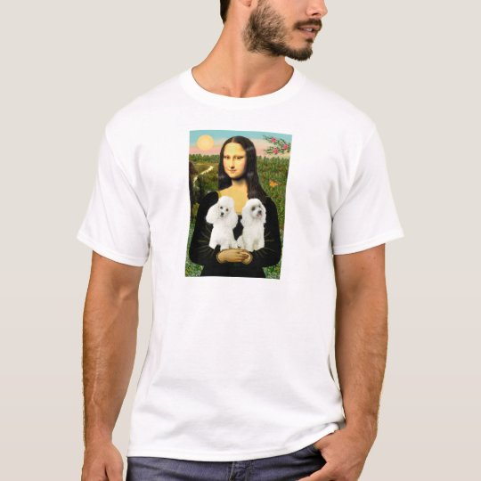 Mona Lisa - Two White Toy Poodles T-Shirt