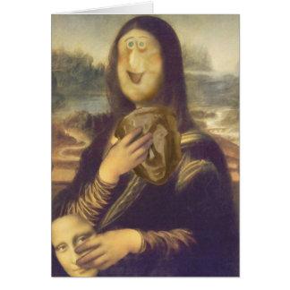 Mona Lisa Undecided Greeting Card