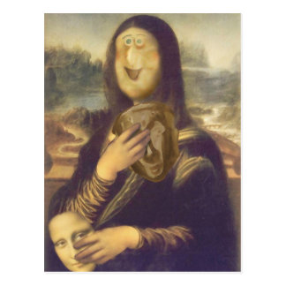 Mona Lisa Undecided Postcard