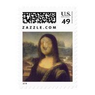 Mona Lisa - Unmasked Postage