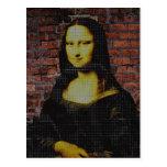 Mona Lisa urbana Postal