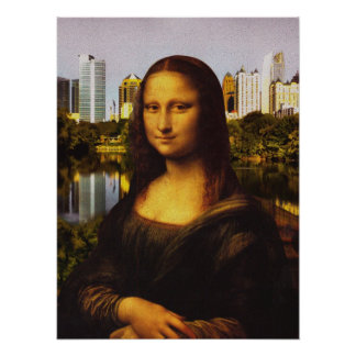Mona Lisa visita ATL Posters