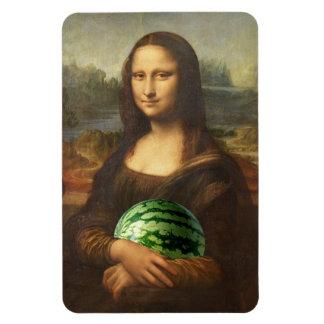 Mona Lisa Watermelon Magnet