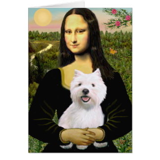 Mona Lisa - Westie 2 Cards