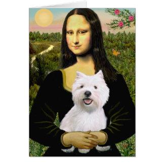 Mona Lisa - Westie 2 Felicitaciones