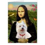 Mona Lisa - Westie 3 Card