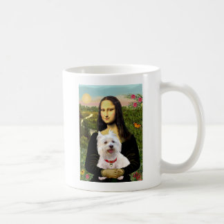Mona Lisa - Westie 3 Coffee Mug