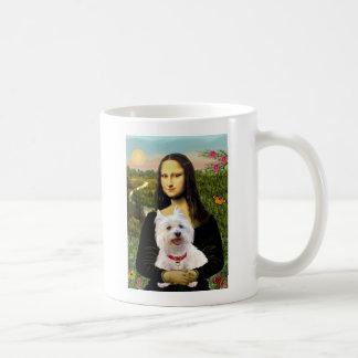 Mona Lisa - Westie 3 Taza