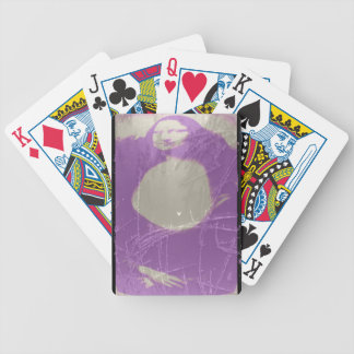Mona Lisa Wet Plate Purple Photography Bicycle Playing Cards